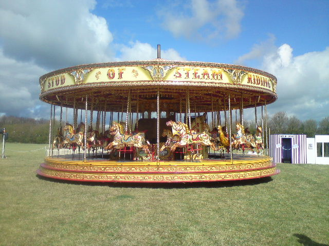 Traditional steam carousel